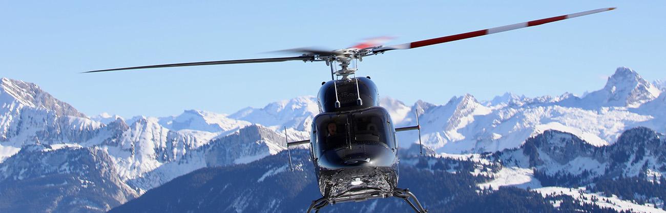 Tous nos transferts en hélicoptère