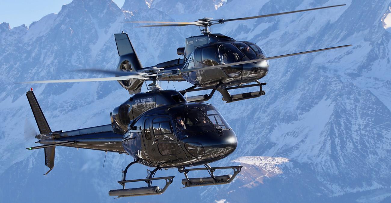 Transfert en hélicoptère à Courchevel