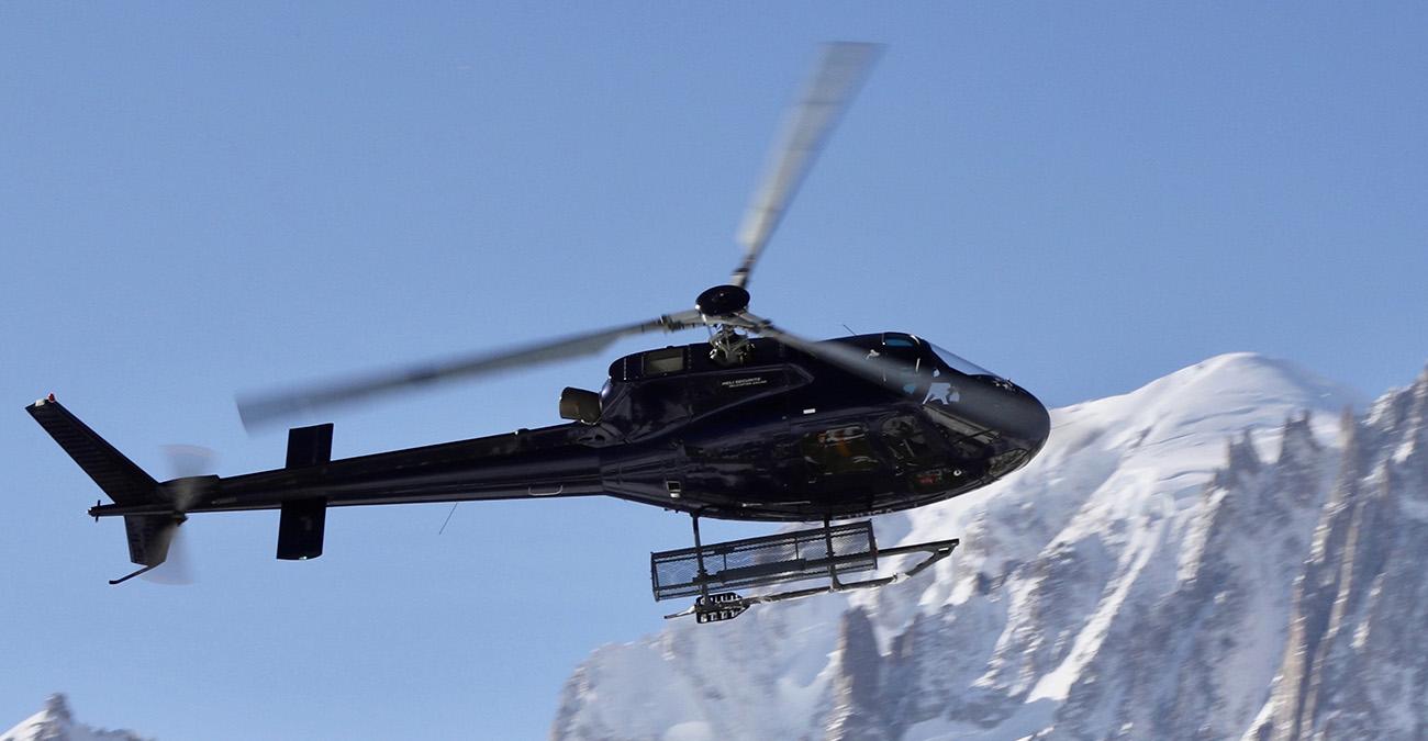 Transfers en hélicoptère au départ de Méribel