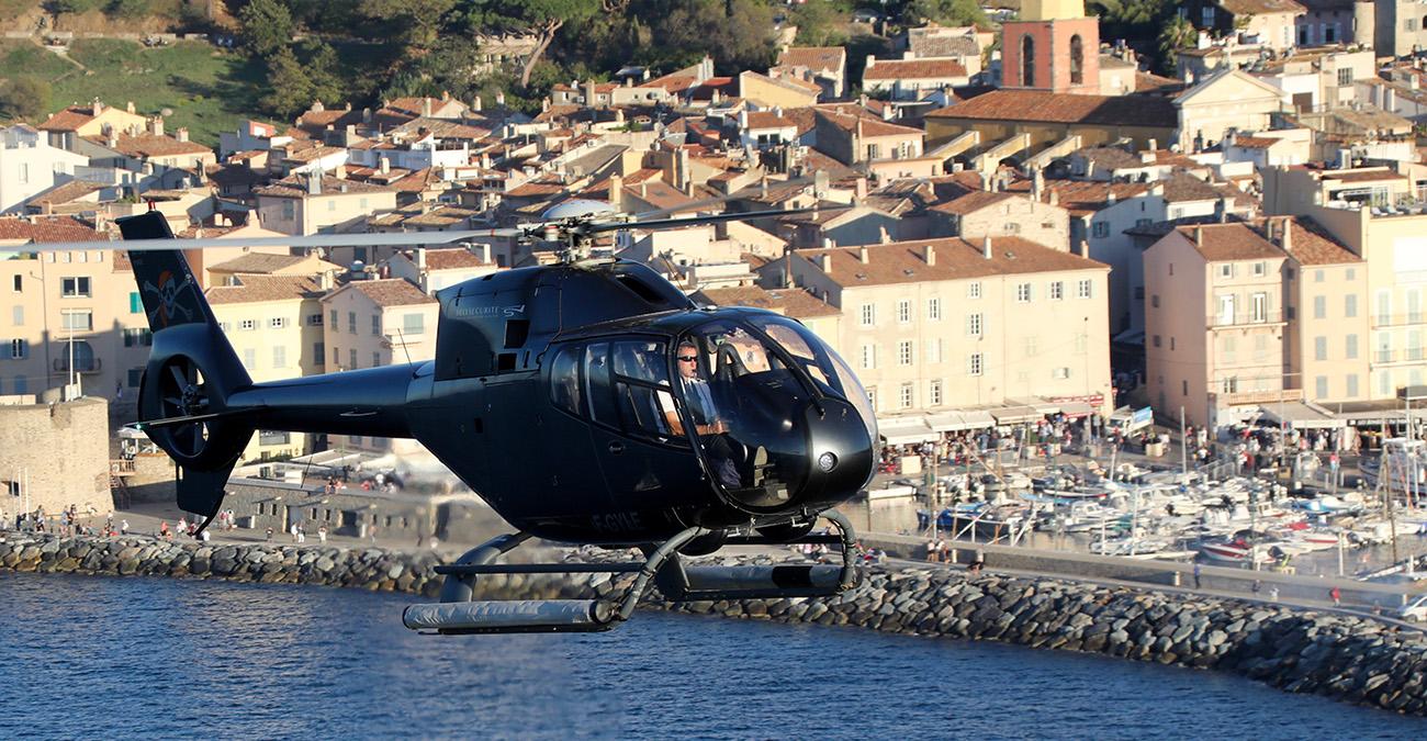 Transferts hélicoptère au départ de Saint-Tropez