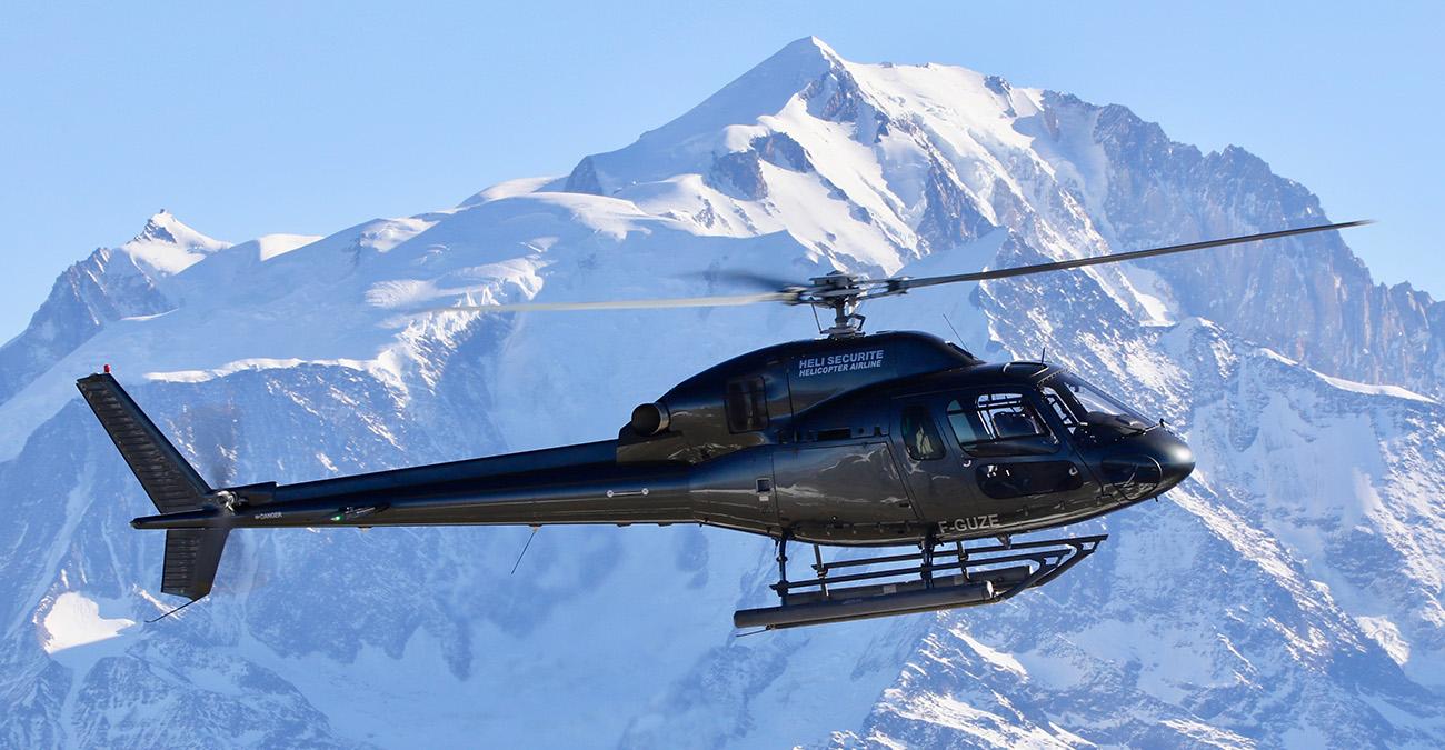 Transferts hélicoptère au départ de Val d'Isère