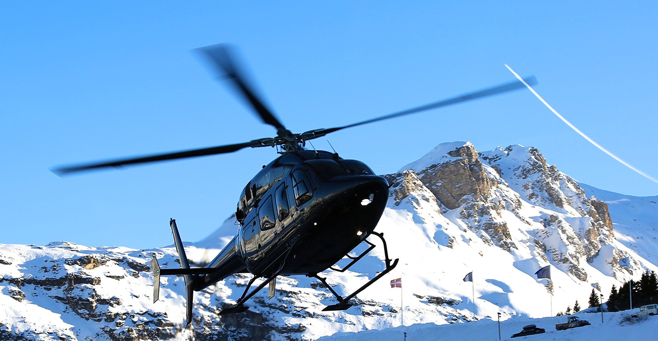 Helicopter Transfers in Val Thorens