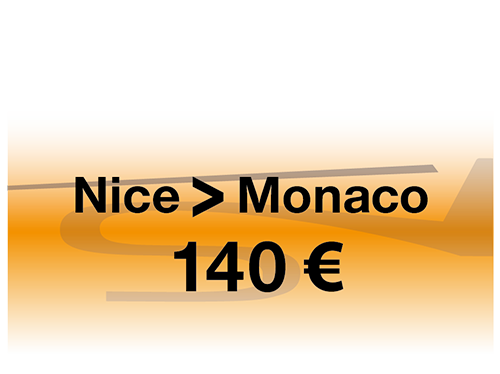 Booking online regular flight Nice - Monaco : 140€