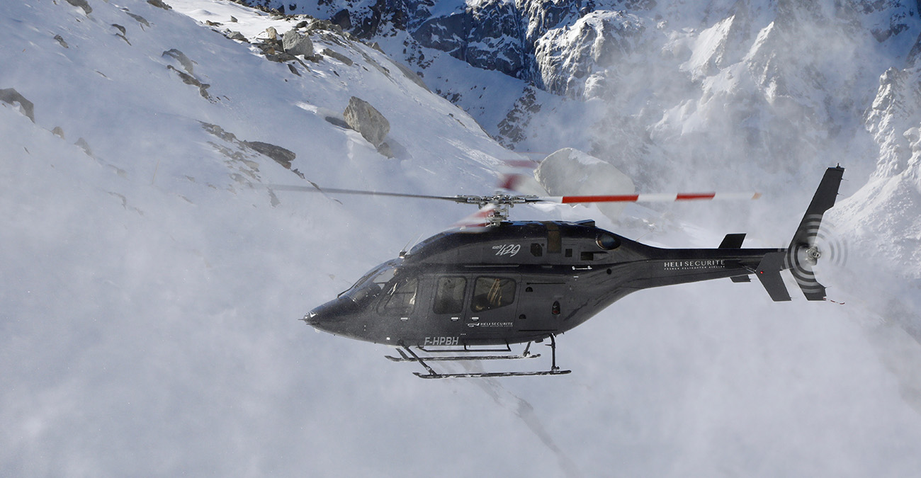Helicopter from and to Grenoble, France