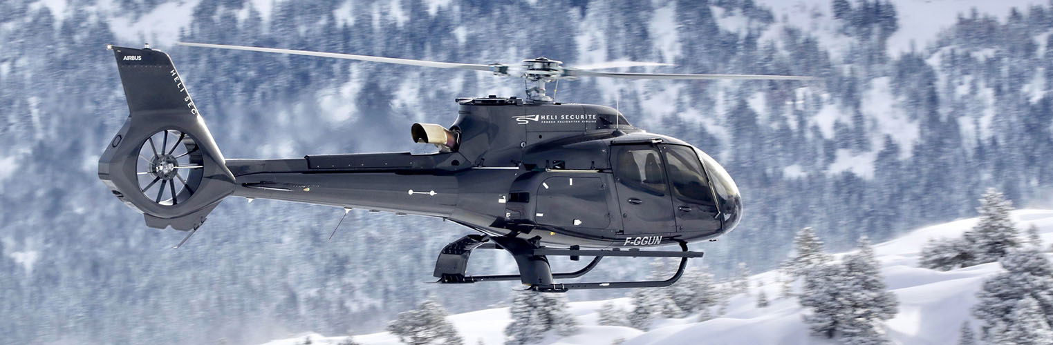 Helicopter transfer french alps